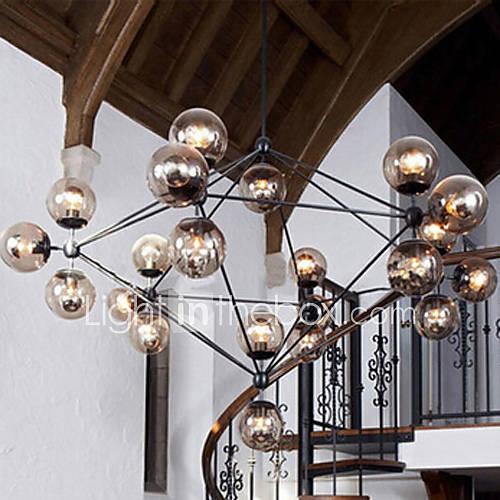 Lustre, 21 la lumière, l'europe du nord de style lampe de restaurant métal