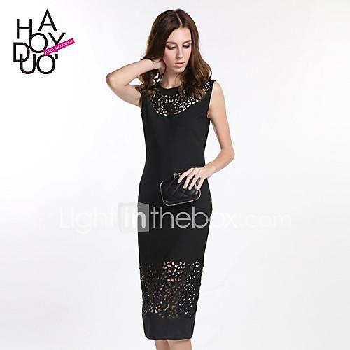 haoduoyi-women-sexy-cut-out-small-rotator-cuff-dress