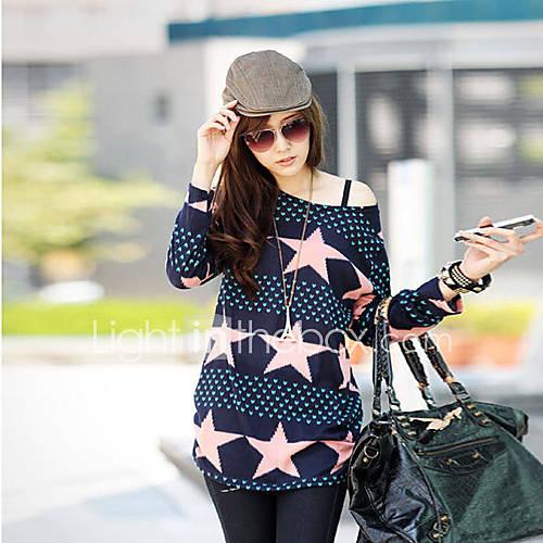 la mode imprimé étoiles t-shirt loose fit de HLF femmes