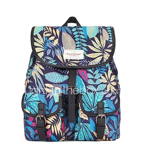 mr.ace homme  preppy série de feuilles de style pour les femmes un sac à dos