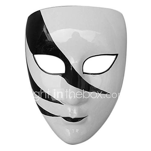 garçons hip-hop masque blanc de PVC noir