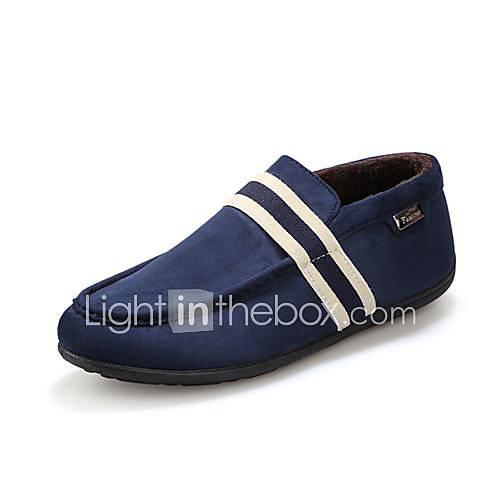 Les chaussures pour hommes mocassin plats pantoufles talon en daim avec des chaussures de glissement sur plus de couleurs disponibles