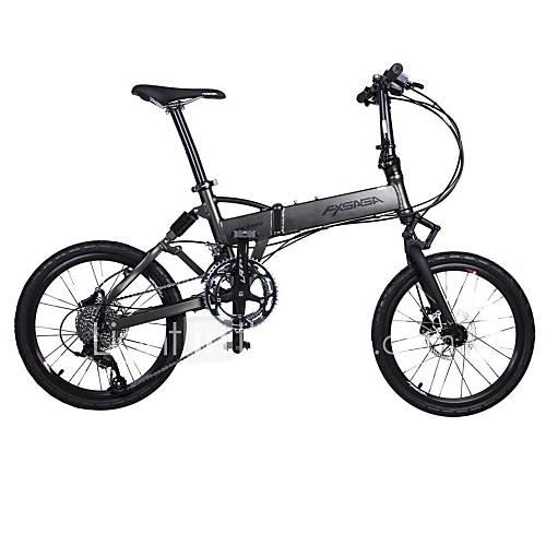 fxsaga 20 pouces en alliage d'aluminium pliage antichoc vélo 18 vitesses ville et visite VTT