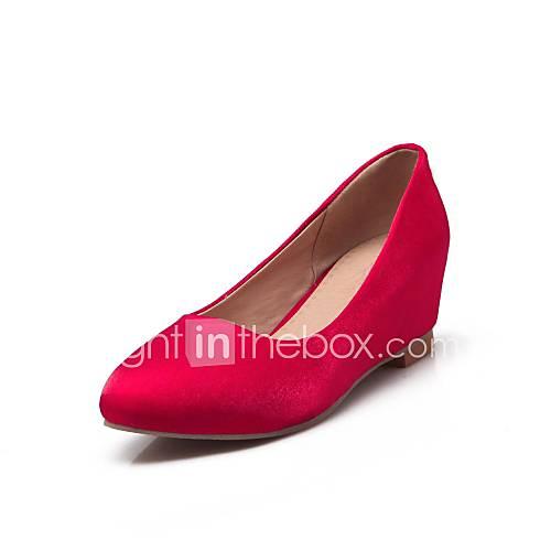 chaussures pour femmes pompes bout pointu talon épais tissu de chaussures plus de couleurs disponibles