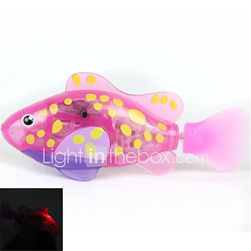 clignote transparente robot poisson électronique poissons animal jouet - rose  jaune  violet (2 x L1154)