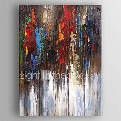 Peinture l 39 huile moderne main peinture abstraite toile peinte avec tir - Peinture a l huile moderne ...