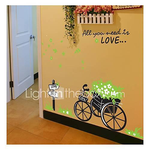decalques-de-parede-adesivos-de-parede-estilo-verde-carro-aee-que-voce-precisa-em-parede-amor-pvc-adesivos