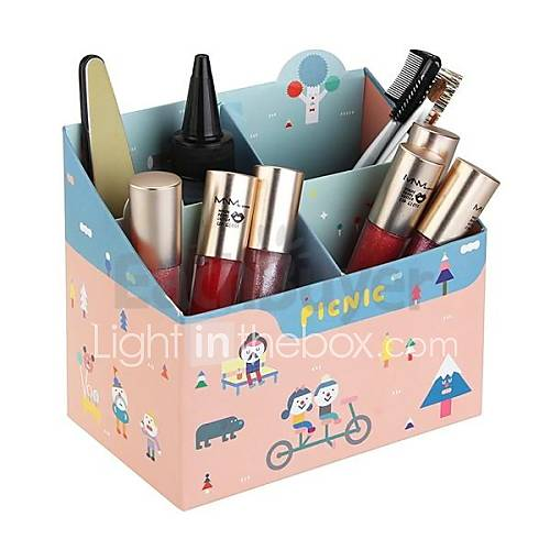 papier de bricolage bo te de rangement maquillage cosm tiques organisateur de bureau enfants. Black Bedroom Furniture Sets. Home Design Ideas