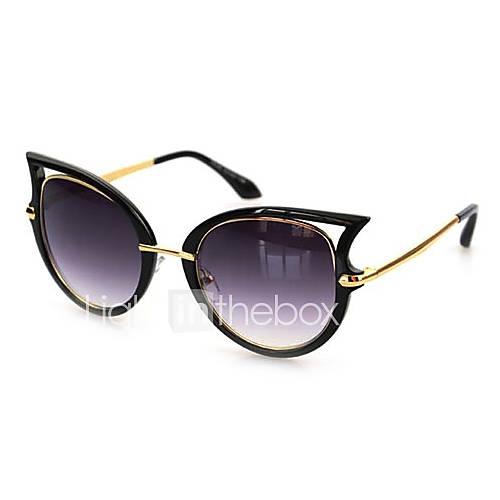 Oeil de chat alliage rétro lunettes de soleil 100% UV femmes