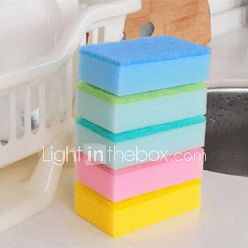 éponge coloré, éponge 15 x 10 x 4 cm (6,0 × 4,0 × 1,6 pouces) de couleur aléatoire