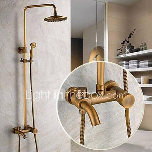 Traditional Shower System Rain Shower Handshower Included
