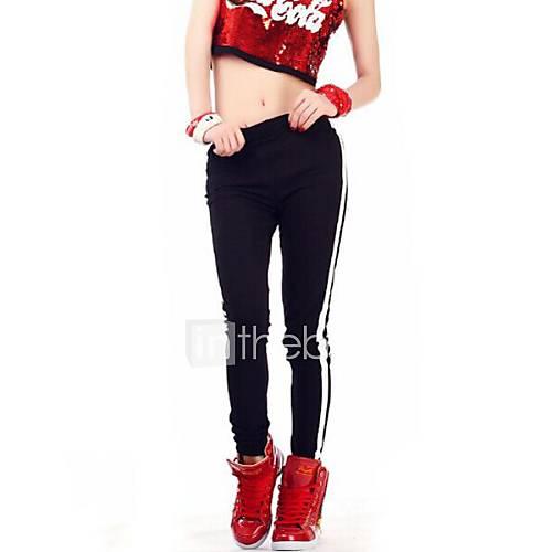 Les leggings mode Stripe Slim imprimés des femmes