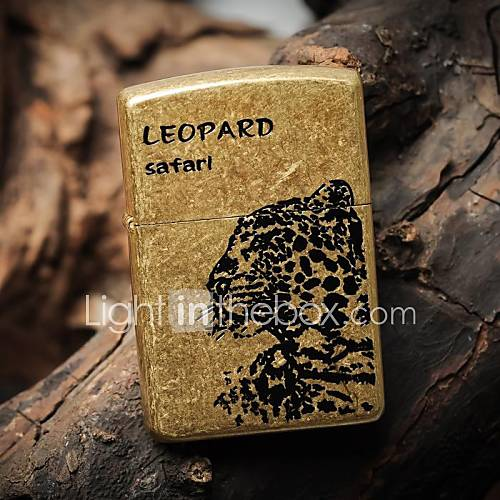 léopard zorro huile de coquille de cuivre métal léger