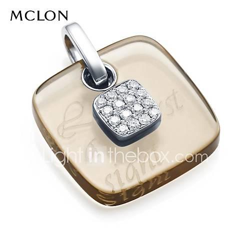 mclon platine avec cristal pendentif diamant collier de mode de