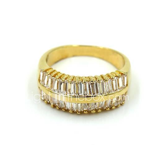 Golden Alloy Rhinestone Casul Rings For Women