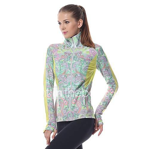 yokaland slim yoga sportif veste premium extensible avec imprimé cachemire
