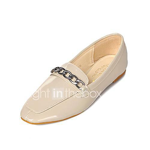 Chaussures femmes bout carré mocassins talon plat avec des chaussures de la chaîne plus de couleurs disponibles
