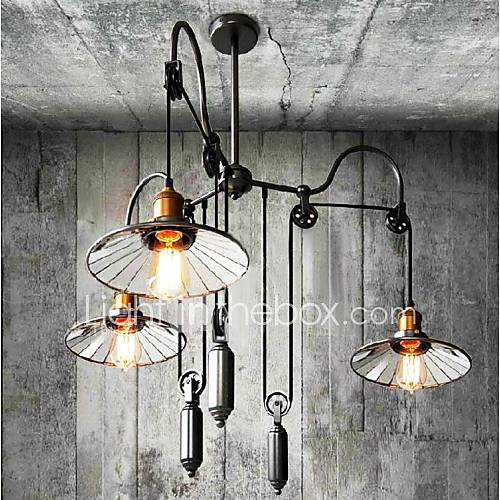 Painting Dining Room Chandelier: #(40W) Chandelier , Vintage / Country Painting Feature For