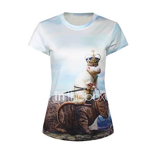 mode d'impression de t-shirt mince des femmes