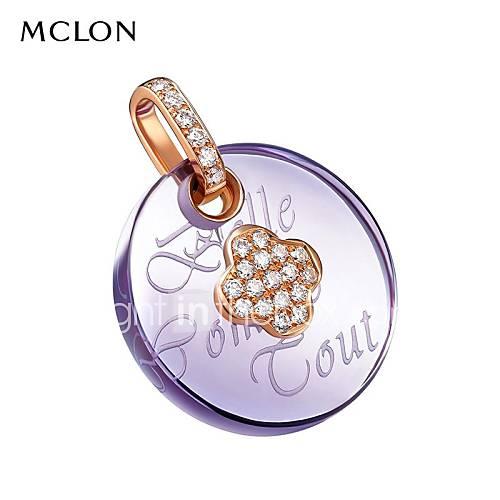 or mclon avec cristal pendentif diamant collier de mode de