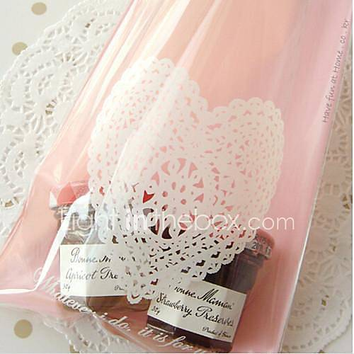 Wedding Favor Bags Plastic : 50 Piece/Set Favor Holder Plastic Favor Bags Pink Heart Lace 2708945 ...
