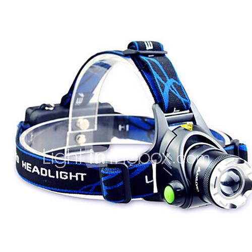 Iluminación Linternas LED / Linternas de Cabeza LED 800 Lumens Modo Cree T6 18650.0 Enfoque Ajustable / A Prueba de Agua / Recargable Descuento en Lightinthebox
