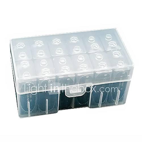 Neewer transparente le stockage de la batterie cas support de batterie / organisateur pour 12 piles 9v