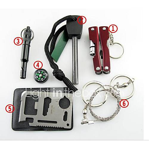 kit-de-sobrevivencia-iniciador-de-fogos-compassos-survival-whistle-cartao-de-credito-ferramenta-de-sobrevivencia-saw-steel-wire-alicate