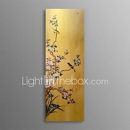 bnqj peint à la main peinture chinoise fleur de pêche d'oiseaux fleur décoration murale artisanat œuvres d'art traditionnelles bricolage prêt à