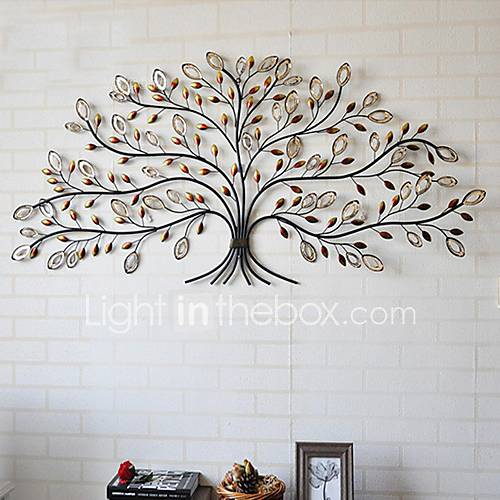 E home metal wall art wall decor tree pattern wall decor for Decoration murale feuille metal