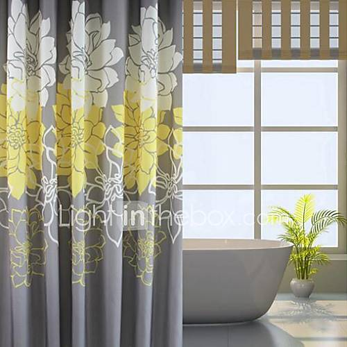 Yellow Gray And White Curtains: European Yellow Peony Floral Shower Curtain 2753385 2016