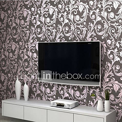 wallpaper black basic and purple flower designs with golden powder