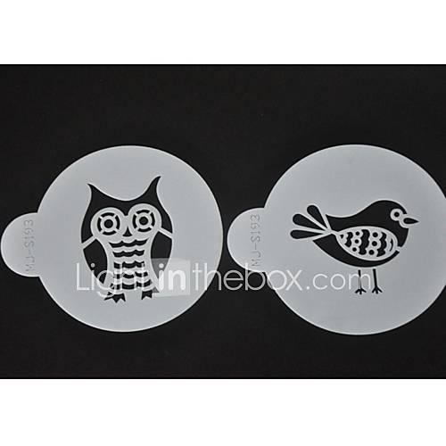 Rub Off Stencils : Birds coffee stencils cookie decorating tools st