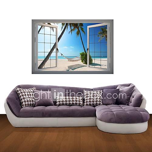 Beach Wall Decor Stickers : D wall stickers decals hammocks beach decor vinyl