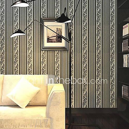 Papel pintado raya serie lujo partido rayas romano negro - Pintado de paredes ...