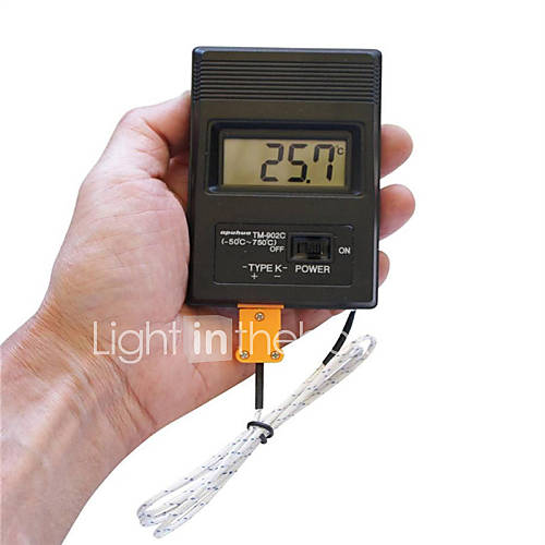 B rbar 2 sk rm digital lcd termometer thermodetector for Schreibtisch 2 50 meter