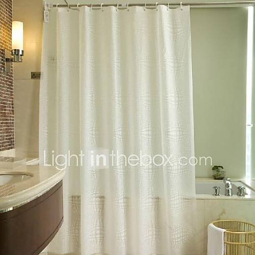 modern eco friendly solid white peva shower curtain 2
