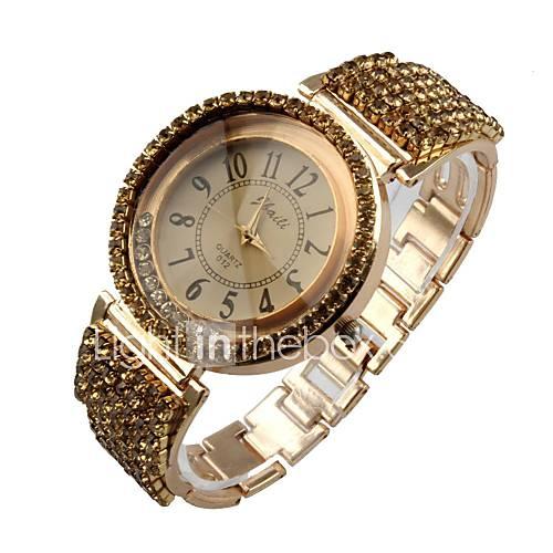 women s bracelet quartz analog sparkle dress