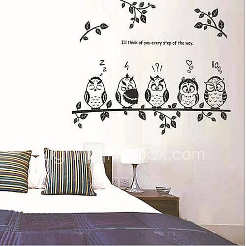 huis van kinderkamer / slaapkamer muur sticker verwijderbare diertjes