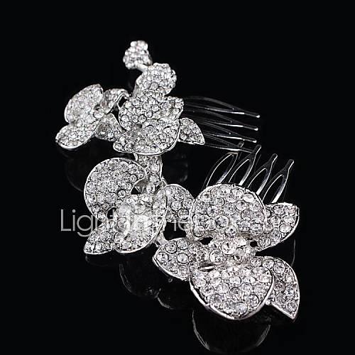Pentes de Cabelo/Tiaras ( Cristal/Prata Chapeada ) - Casamento/Pesta
