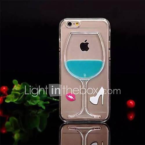 Para Capinha iPhone 6 / Capinha iPhone 6 Plus Liquido Flutuante Capinha Capa Traseira Capinha Desenho 3D Rígida PCiPhone 6s Plus/6 Plus /