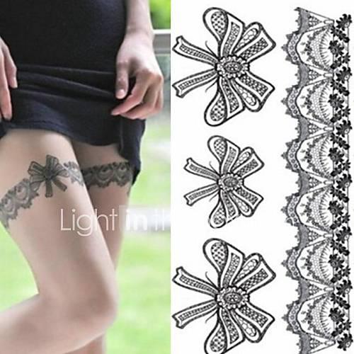 Tatuajes Adhesivos - Non Toxic/Parte Lumbar/Waterproof - Otros - Niños/Mujer/Hombre/Adulto/Juventud - Negro - Papel - 1 - 2014.5cm (7.875.71in) - Descuento en Lightinthebox