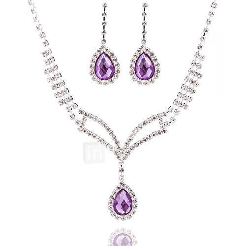Conjunto de joyas De mujeres Aniversario / Boda / Pedida / Cumpleaños / Regalo / Ocasión especial Sets de Joya AleaciónPerla / Diamantes Descuento en Lightinthebox