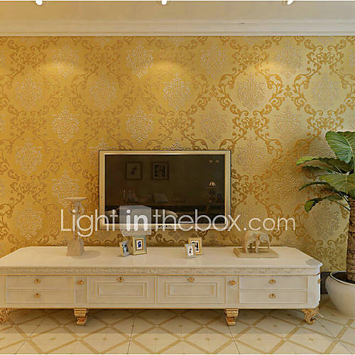 Papel tapiz floral contempor neo 3d lujo damasco dise a la - Papel tapiz para pared ...