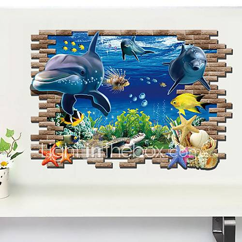 Animals 3d wall stickers 3d wall stickers decorative for Decoration porte 3d