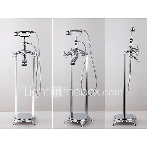 Frees Standing Floor Mounted Clawfoot Bath Tub Shower Faucet Mixer Tap 289405