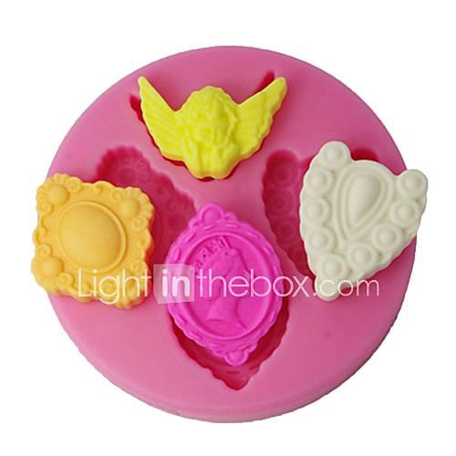 Four c siliconen fondant schimmel engel decoratie for Decoratie chocolade