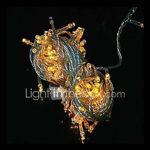 Amerikaanse stekker waterdicht 10m 100led geel licht leidde lichte decoratie van kerstmis snaar - Decoratie geel ...