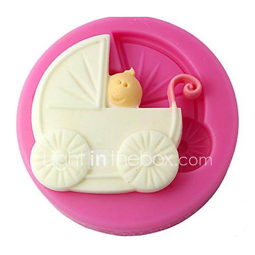 Cake Decorating Baby Carriage : FOUR-C Silicone Cupcake Mold Baby Carriage Fondant Mould ...