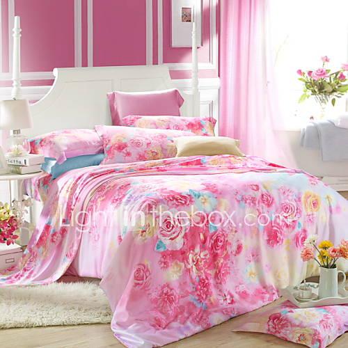 Bedroom Sets Queen King Size Bedding Set Tencel Elegant